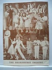 EARLY TO BED Playbill MURIEL ANGELUS / JANE KEAN / FATS WALLER NYC 1943