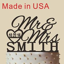 Personalized Wedding Cake Topper, Acrylic, Mr and Mrs Cake Topper,Made in USA 5""