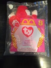 Ty Teenie Beanie Babies SNORT the Red BULL #8 McDonald's Happy Meal Toy 1996 NIP