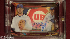 Kris Bryant 2015 Topps Strata Shadow Box On Card Auto Rookie Card RC 1/1 !
