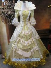 Women Rococo Baroque Cosplay High collar Costume Marie Antoinette Gown Dresses