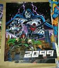 Vintage Marvel comics 2099 promotional poster Spider-Man, Dr. Doom, Punisher
