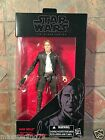 "Star Wars Black HAN SOLO 6"" figure 2016 The Force Awakens Harrison Ford Old"