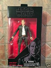 """Star Wars Black HAN SOLO 6"""" figure 2016 The Force Awakens Harrison Ford Old"""