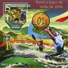 Sao Tome & Principe 2015 MNH Summer Olympics Rio 2016 1v S/S Golf Basketball