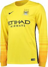 OFFICIAL NIKE MANCHESTER CITY GOALKEEPER LONG SLEEVES SHIRT 2015-16 MENS LARGE