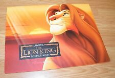 Walt Disney's The Lion King Special Edition Disney Store Lithograph Set **READ**