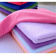 10pcs Soft Hand Square Towel Soothing Microfiber Face Towel Cleaning Wash Cloth