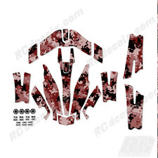 Traxxas Aton Plus Body Wrap Decal Skin Sticker Canopy Digi Camo Red
