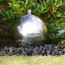 30cm sphère fonctionnalité d'eau en acier inoxydable avec led lumières