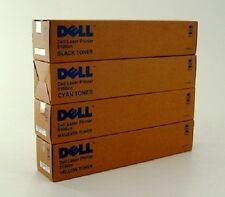 4 X TONER ORIGINALE DELL 5100 5100cn/gg577 gg578 gg579 hg308 cartridge