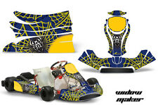 AMR Racing Graphics KG Freeline Birel Cadet Sticker Kits Decals WIDOW MAKER YLW