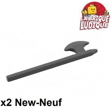 Lego - 2x minifig arme weapon hache hallebarde halberd gris f/d b gray 3848 NEUF