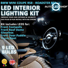 BMW MINI R58 COUPE LED INTERIOR COMPLETE FULL KIT SET BULB XENON WHITE COOPER S
