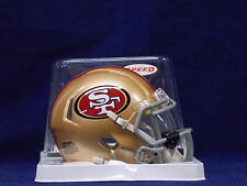 San Francisco 49ERS Riddell NFL Football Speed MINI HELMET with VISOR ATTACHED