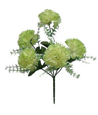 5 CARNATIONS ~ SAGE GREEN ~ Silk Wedding Flowers Bridal Bouquets Centerpieces