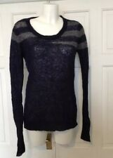 Religion uk 10 beautiful Mohair mix blue jumper