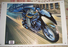 "BATMAN on Batpod  18"" x 12"" Poster Suitable for Framing Protective UV Coated"
