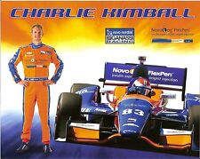 2014 CHARLIE KIMBALL novo nordisk INDIANAPOLIS 500 PHOTO CARD POSTCARD INDY CAR