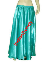 Satin Maxi Skirt 4-5 Yard Belly Dance Tribal Half Circle Jupe Robe Gypsy Women