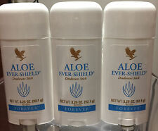 3 Forever Living Aloe Vera Ever-shield Deodorant Stick Desodorante FREE SHIP