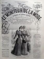 LE MONITEUR DE LA MODE 1891 N 8 TOILETTES DE PRINTEMPS. DESSIN DE TRESSE