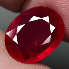 5.18CT.DAZZLING! OVAL FACET TOP BLOOD RED NATURAL RUBY MADAGASCAR