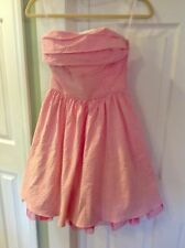 BETSEY JOHNSON PINK SEERSUCKER GIRL'S PARTY DRESS SZ 2