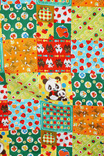 Japanese Cosmo Fabric Cute Panda Animal Fruit  Cotton  Fabric Imported BFab