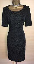 Exquisite Karen Millen Leopard Print Side Buckle Shift Dress Uk10