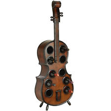 DOUBLE BASS WINE RACK -  CAN HOLD UP TO 9 BOTTLES - LIGHT BROWN