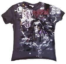 AMPLIFIED Indian Totenkopf Skull VINTAGE Rock Star Designer WoW T-Shirt 104/110