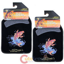 Ed Hardy Koi Fish Car Floor Mats 2pc Accessories Set Carpet Mat