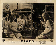 Caged original 1950 lobby card Eleanor Parker Jan Sterling in womens prison