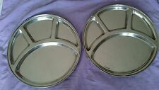 Stainless steel Plate Thali  has 4 Compartments