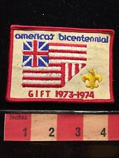 Vtg Boy Scout Patriotic AMERICA BICENTENNIAL  (Gift 1973-74) Jacket Patch 67WH