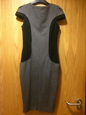 LADIES PRIMARK ATMOSPHERE WORK FITTED GREY AND BLACK DRESS UK SIZE 8