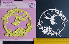 SNELLEN*Shape*Circle*Frame*Humming*Bird * Flower* DIE * CUT * EMBOSS * SDL023 *