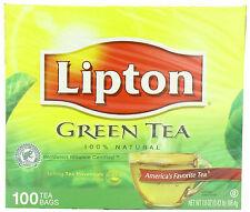 Lipton Green Tea, 100 Percent Natural, 100 Count NEW