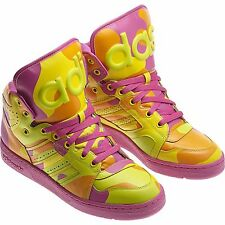 ADIDAS ORIGINALS JEREMY SCOTT INSTINCT HI NEON MEN'S SHOES SIZE US 10.5 G95754