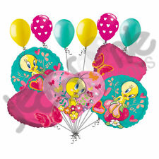 11 pc Tweety Heart Butterflies & Strawberry Balloon Bouquet Party Happy Birthday