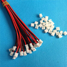 50 SETS Mini Micro JST 2.0 PH 2-Pin Connector plug with Wires Cables