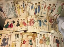 LOT OF WOMENS VINTAGE SEWING PATTERNS  DRESS SKIRT WEDDING PARTY and MORE