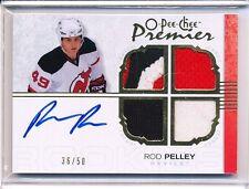 2007-08 OPC O-PEE-CHEE PREMIER ROD PELLEY AUTOGRAPH JERSEY 36/50