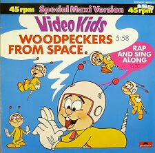"12"" Maxi - Video Kids - Woodpeckers From Space - B671 - washed & cleaned"