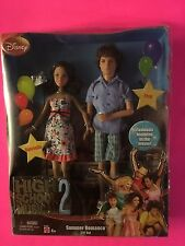 NEW DISNEY HIGH SCHOOL MUSICAL 2 SUMMER ROMANCE GIFT SET TROY & GABRIELLA DOLLS