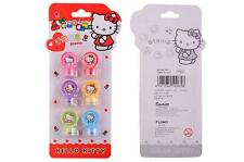 New Cute Hello Kitty Kids 6pcs DIY Rubber Stamper Stamps Set