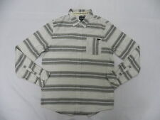 O'Neill Men Radius Ivory LS Buttom Down Woven Shirt Sz Medium