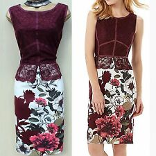 Phase Eight Hancel Ivory Berry Lace Floral Evening Wedding Races Pencil Dress 14