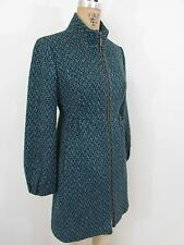 TABITHA Blue/Green/Teal Tweed Coat/Jacket-Size 6P